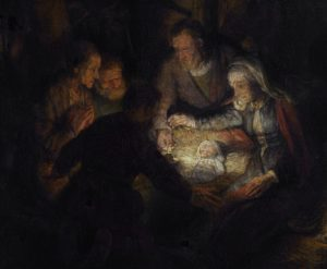The adoration of the shepherds, by Rembrandt